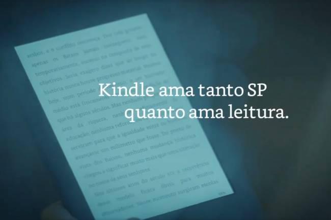 Amazon produz novo comercial do Kindle