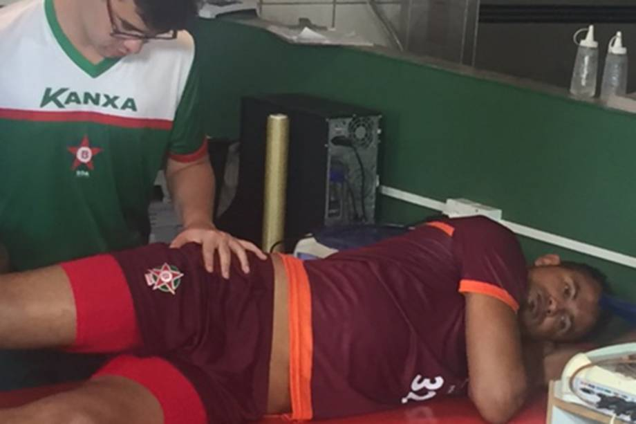 Goleiro Bruno tem seu primeiro dia de treinos no Boa Esporte Clube, em Varginha (MG)
