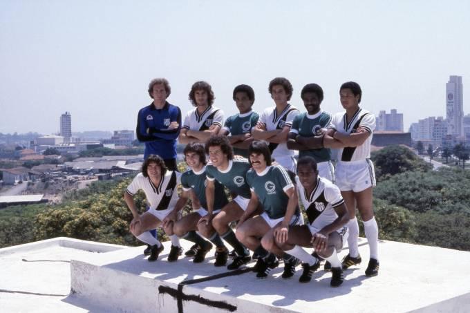 Jogadores do Guarani e Ponte Preta em 1978