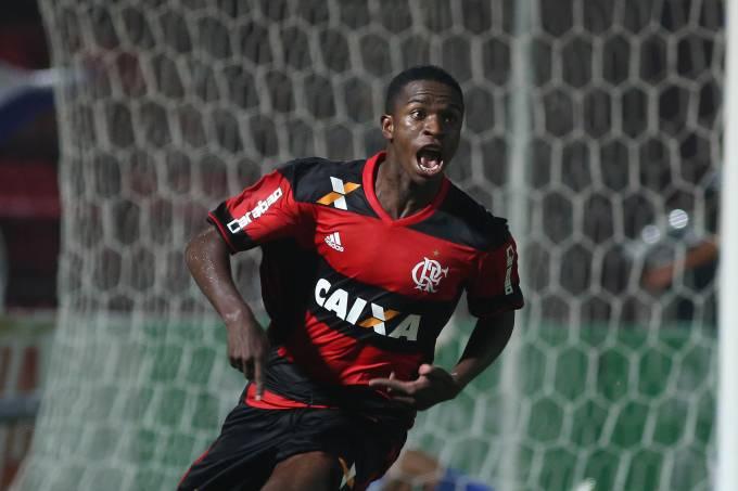 O atacante Vinícius Júnior do Flamengo