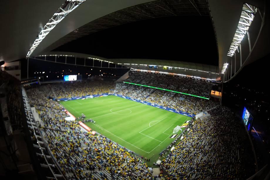 Vista geral da Arena Itaquera, em São Paulo durante partida entre Brasil e Paraguai válida pela 14ª rodada das Eliminatórias da Copa do Mundo Rússia 2018 - 28/03/2017