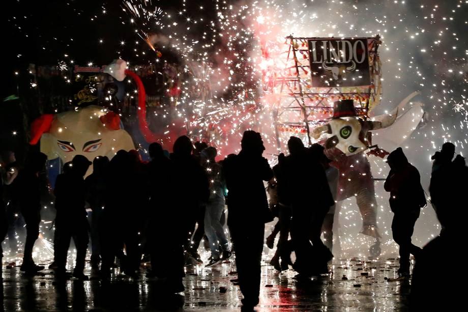 Pessoas comemoram o tradicional festival de San Juan de Diós, na Cidade do México