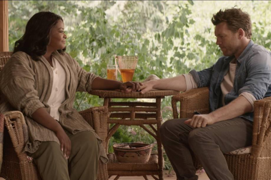 """Sam Worthington e Octavia Spencer em """"A Cabana"""""""