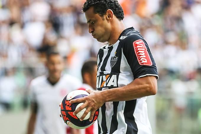 Fred, do Atlético Mineiro, durante cobrança de pênalti