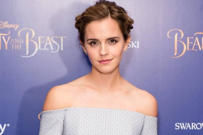 Emma Watson na estreia de 'A Bela e a Fera' em Londres, em 23 de fevereiro de 2017