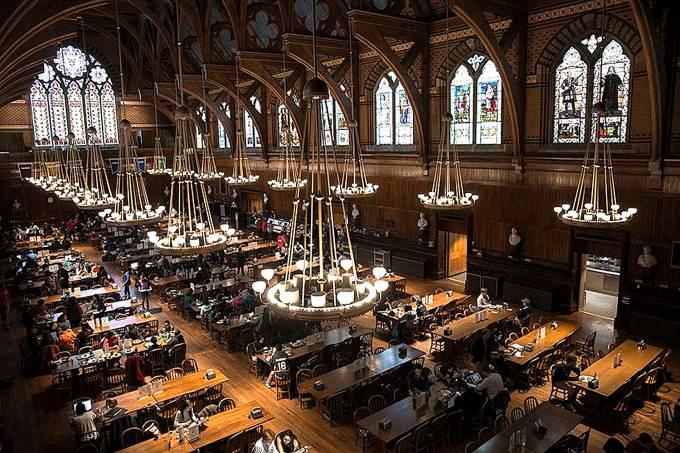 Campus da Universidade Harvard nos Estados Unidos