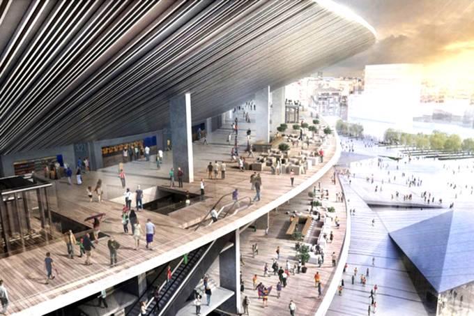 Imagem conceito do estádio do Barcelona, Nou Camp