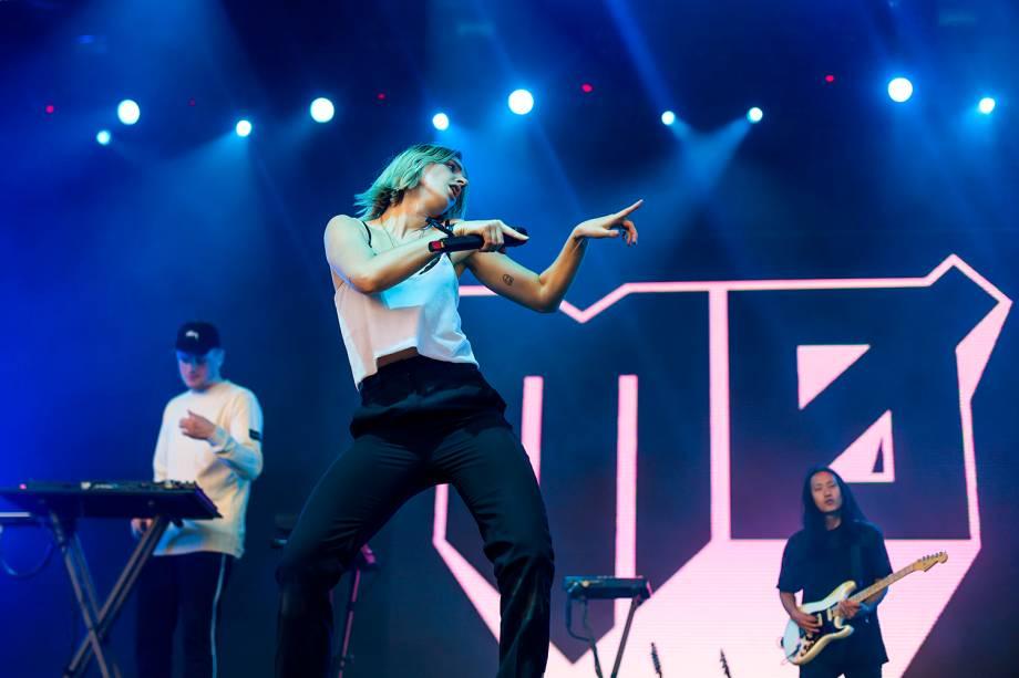MØ se apresenta no segundo dia do Lollapalooza 2017, no autódromo de Interlagos