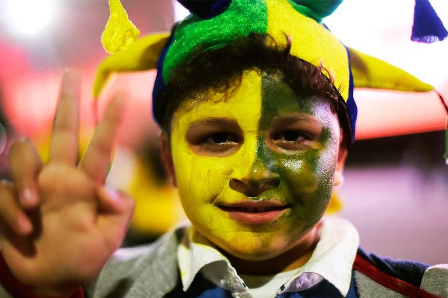 Torcida durante a partida entre Brasil e Paraguai válida pela 14ª rodada das Eliminatórias da Copa do Mundo Rússia 2018, na Arena Itaquera, em São Paulo - 28/03/2017