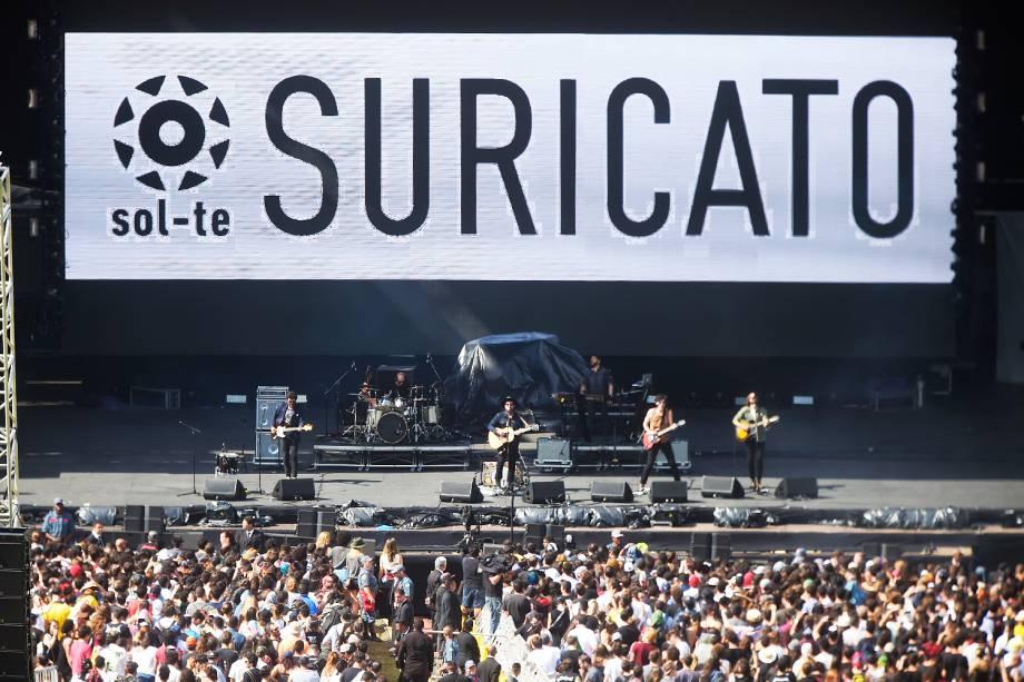 Suricato no palco principal da 6ª edição do Lollapalooza no autódromo de Interlagos