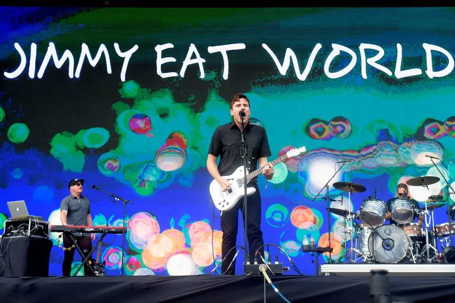 Banda Jimmy Eat World se apresenta na sexta edição do festival Lollapalooza, no Autódromo de Interlagos, São Paulo