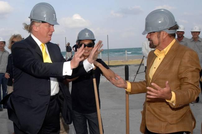 O empresário cubano-americano Jorge Pérez e Donald Trump