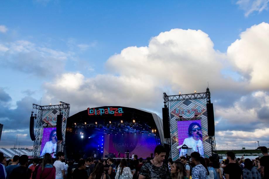 Show da banda Tegan and Sara no primeiro dia do Festival Lollapalooza 2017