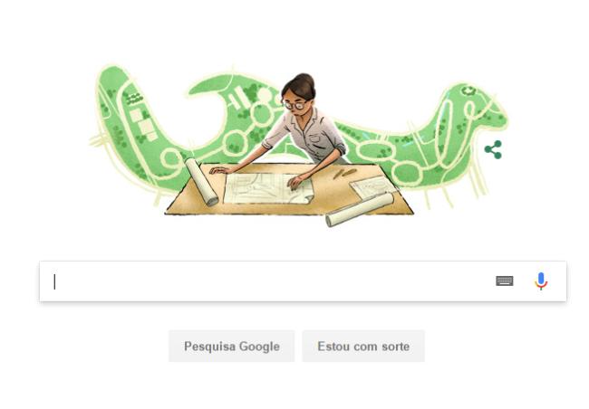 Lotta de Macedo Soares em doodle do Google