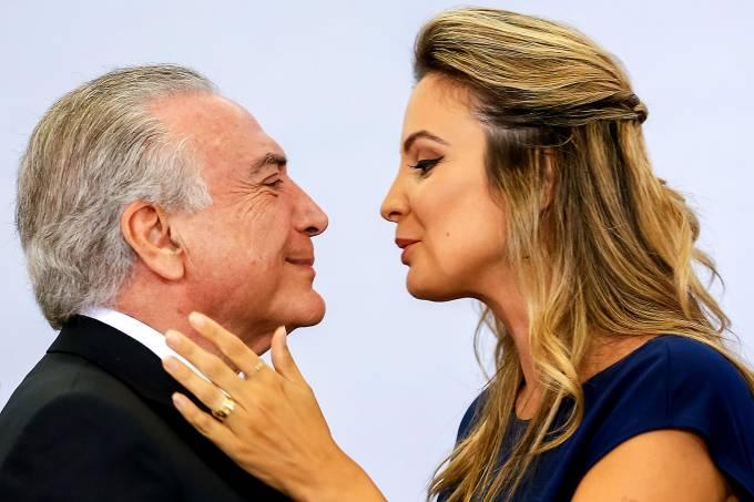 Marcela e Michel Temer em Cerimônia de Comemoração pelo Dia Internacional da Mulher – 08/03/2017