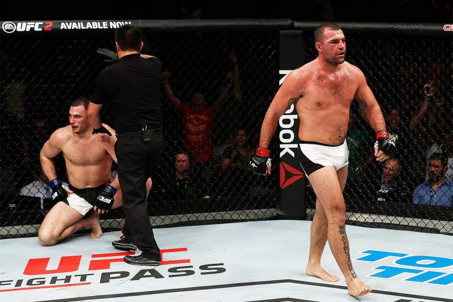 Maurício Shogun vence Gian Villante na edição 106 do UFC Fight Night, no CFO – Centro de Formação Olímpica, em Fortaleza - 11/03/2017