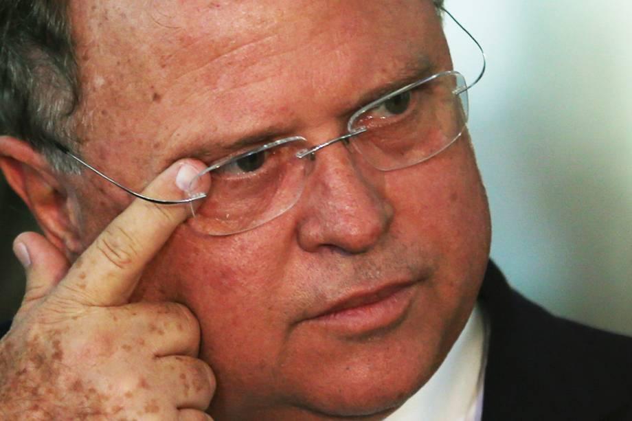 O ministro Blairo Maggi concede entrevista sobre a situação das carnes brasileiras, em Brasília - 20/03/2017