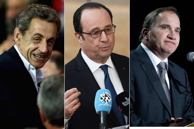 Nicolas Sarkozy, François Hollande, Kjell Stefan Löfven