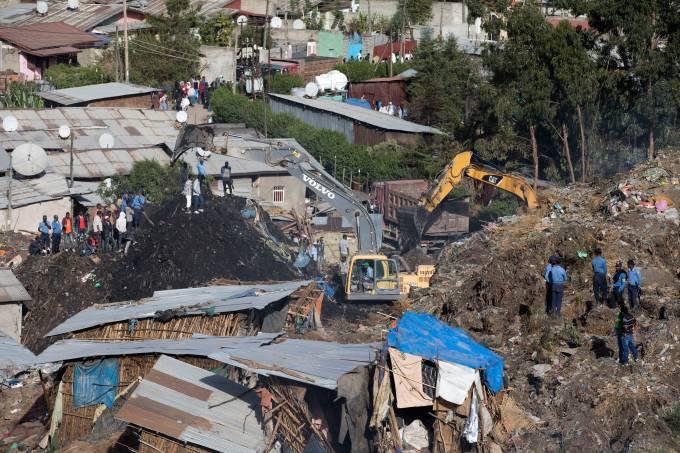 Deslizamento de terra na Etiópia