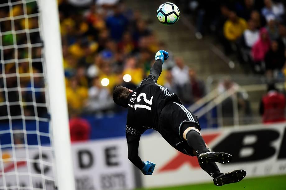 O Goleiro da seleção do Paraguai, Antony Silva - 28/03/2017