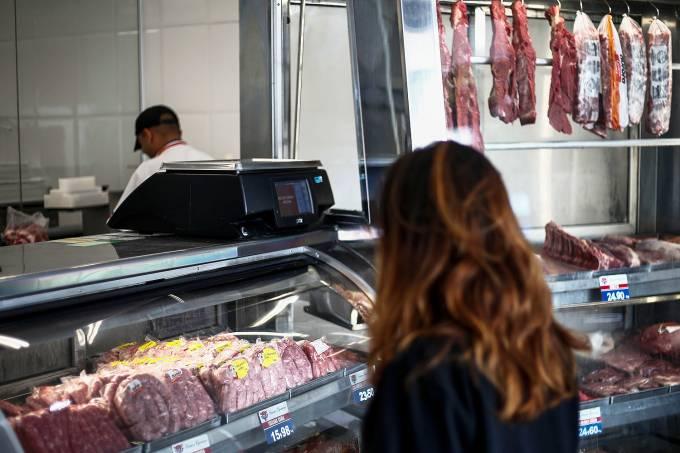 Carnes em um açougue em São Paulo – 20/03/2017
