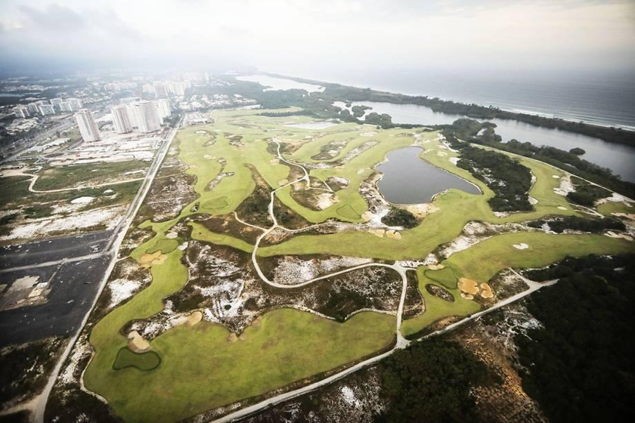 <span>Campo de golfe parcialmente degradado 7 meses após os Jogos Olímpicos Rio 2016</span>