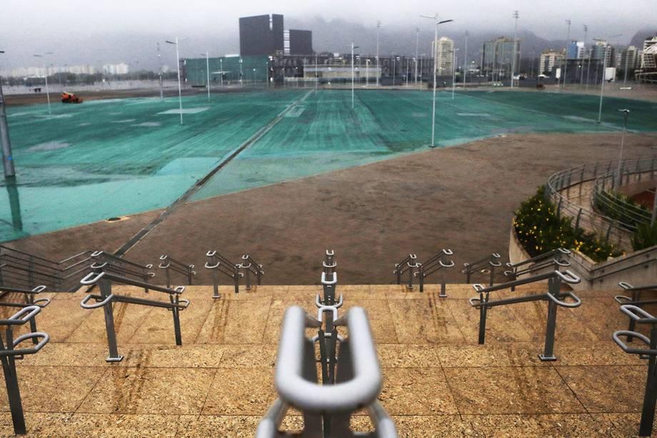 Parque Olímpico da Rio 2016, abandonado 7 meses após os jogos