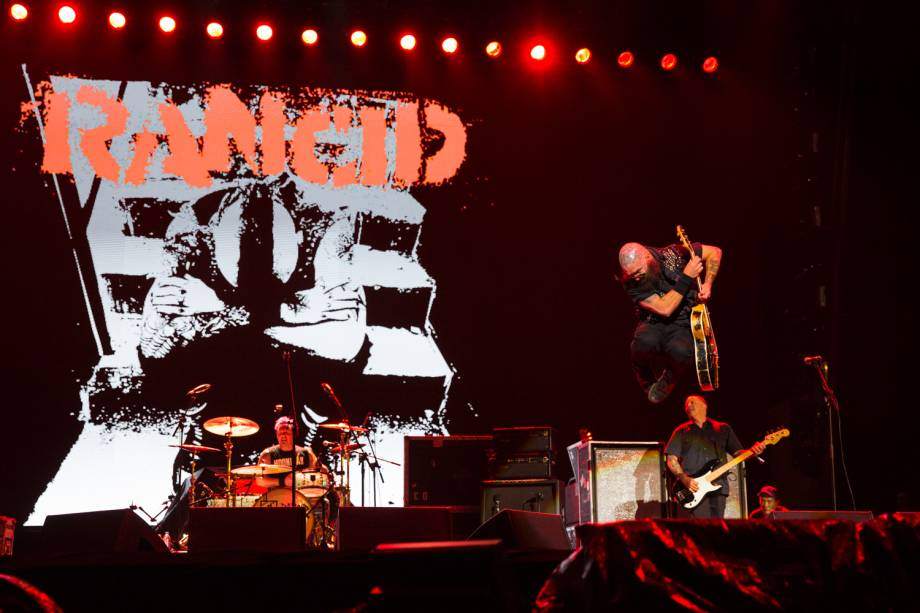 Show da banda Rancid no primeiro dia do Festival Lollapalooza 2017