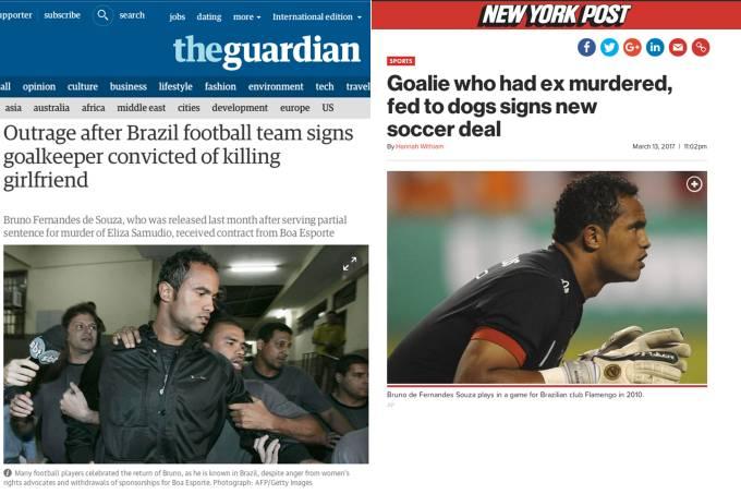 Contratação do goleiro Bruno repercute na imprensa internacional