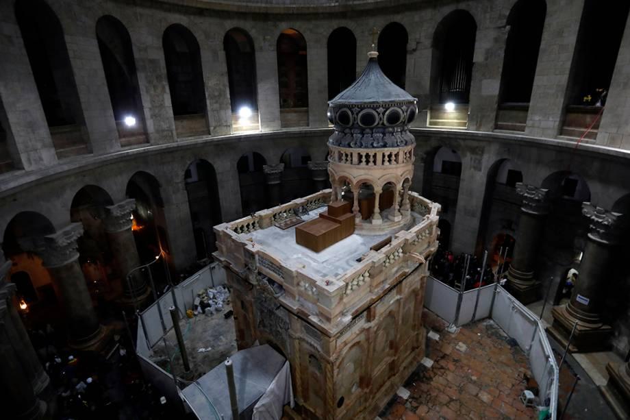 Santo Sepulcro é reinaugurado após reformas, em Jerusalém - 21/03/2017