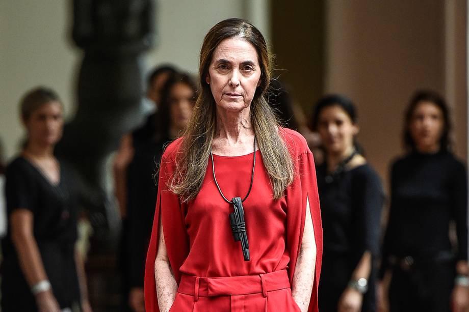 Suzana Kertzer, ex-modelo, desfilou pela Uma