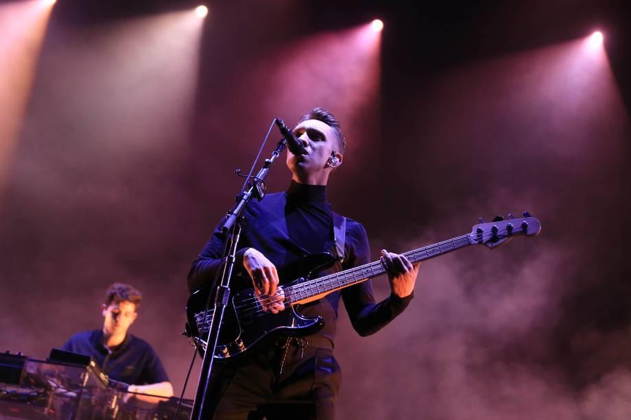 O show banda britânica The xx na primeira noite do Lollapalooza, no autódromo de Interlagos