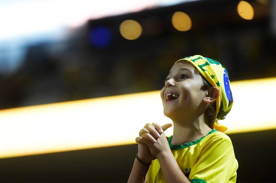 Torcida durante partida entre Brasil e Paraguai válida pela 14ª rodada das Eliminatórias da Copa do Mundo Rússia 2018, na Arena Itaquera, em São Paulo - 28/03/2017