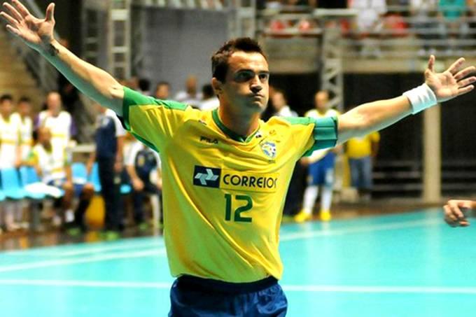 Falcão durante seu último jogo pela Seleção Brasileira de Futsal – 26/03/2016