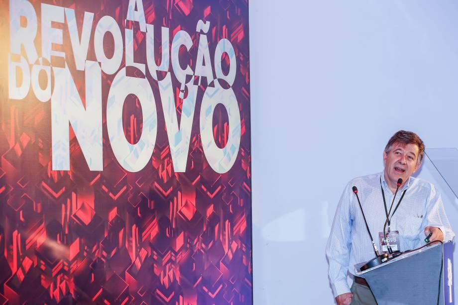 Fernando Reinach, biólogo, sócio e gestor do Fundo Pitanga, durante palestra no Fórum VEJA EXAME Revolução do Novo