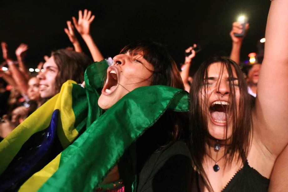 Público durante a o show de The Weeknd no segundo dia do Lollapalooza 2017, no autódromo de Interlagos