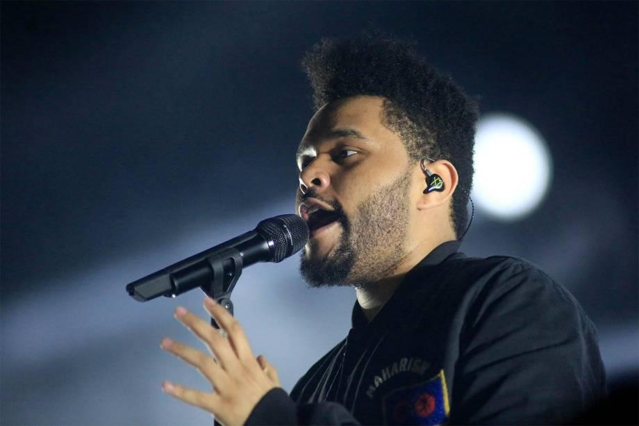 The Weeknd se apresenta no segundo dia do Lollapalooza 2017, no autódromo de Interlagos