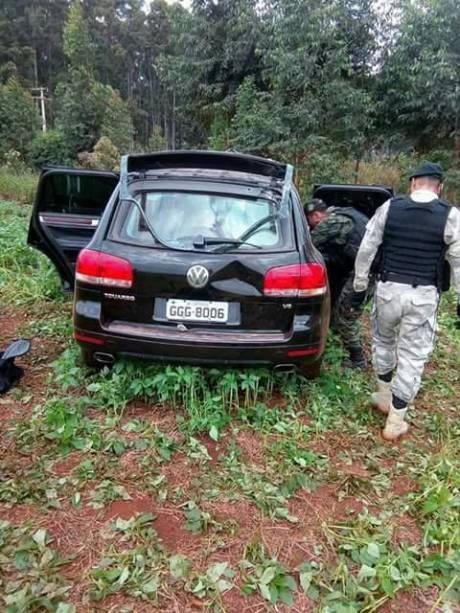SUV abandonada na fuga do assalto à Prosegur