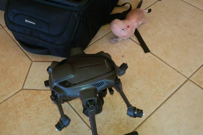 Drone usado em roubo no Paraguai