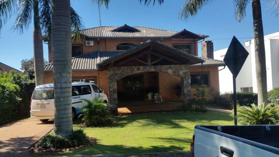 Casa em Hernandarias que teria servido como base da quadrilha para assalto à Prosegur no Paraguai