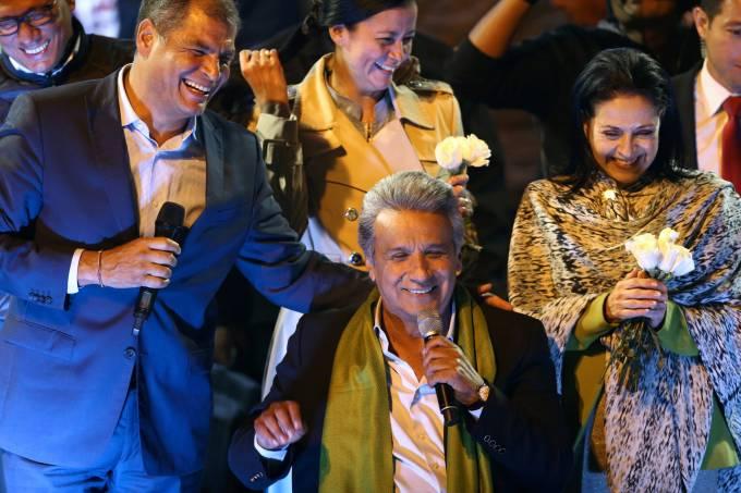 Rafael Correa, Lenin Moreno e Rocio Gonzales