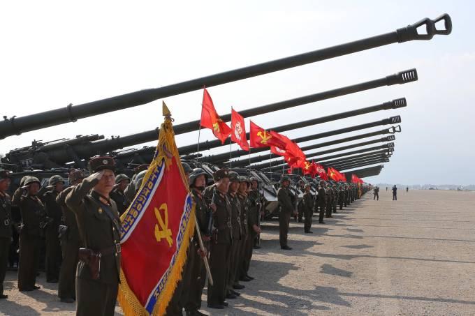 Coreia do Norte: exercício militar