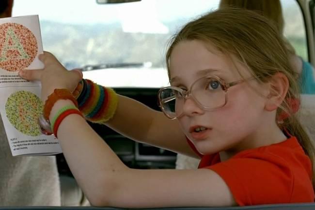 Abigail Breslin como Olive em 'Pequena Miss Sunshine'