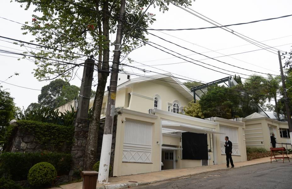 <span>Casa de Silvio Santos, no Morumbi, pouco antes da cerimônia de casamento de Patrícia Abravanel e o deputado Fabio Faria</span>