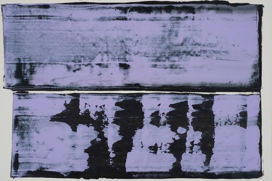 4. Pedro Calapez. Céu Sombrio (Dark Sky), 2012. Acrílica sobre papel. 103,5 x 153,5 BELO-GALSTERER