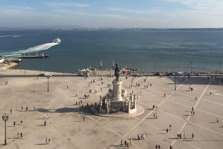 Vista do Arco da Rua Augusta, em Lisboa