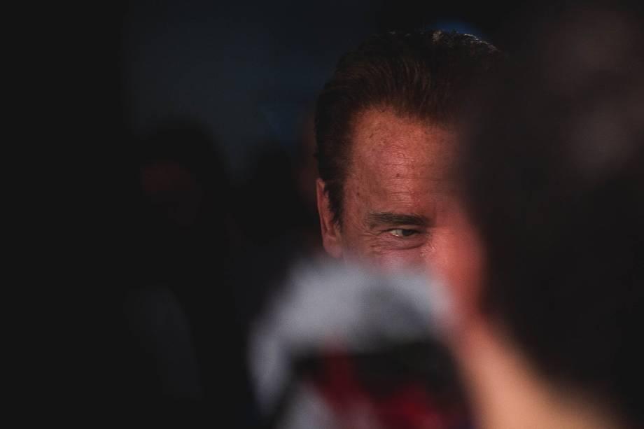 Arnold Schwarzenegger durante o evento Arnold Classic South America realizado no Transamérica Expo Center em São Paulo