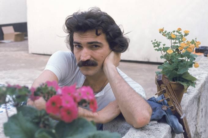 O cantor e compositor Belchior, nos anos 70