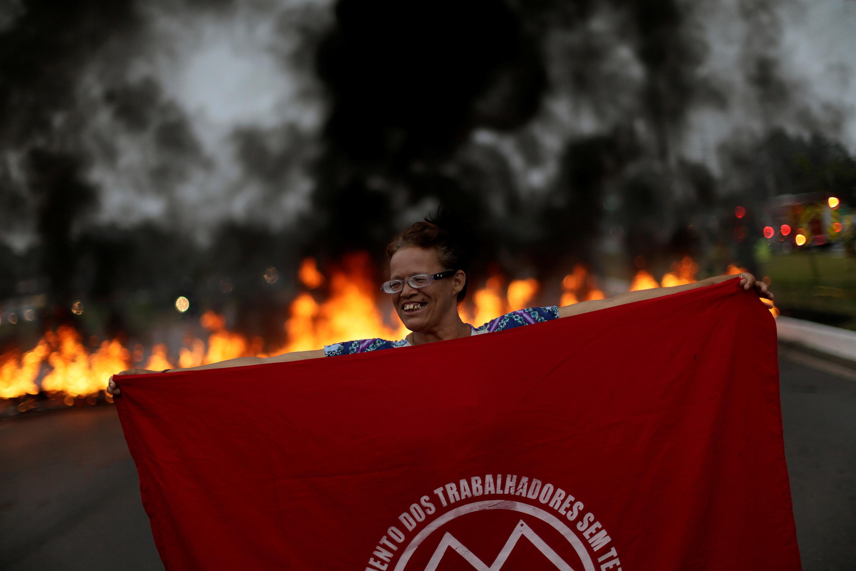 Protesto contra Michel Temer em Brasília