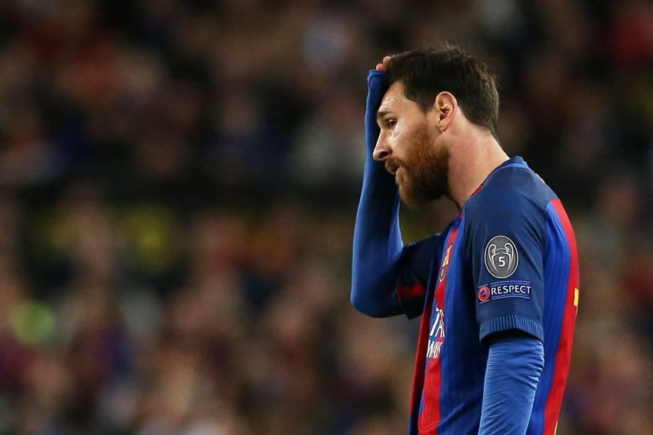 Lionel Messi, do Barcelona, durante partida contra  a Juventus, pela Liga dos Campeões